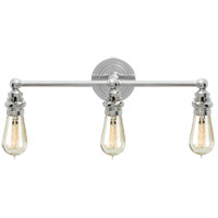 Visual Comfort E.F. Chapman Boston 3 Light Bath Wall Light in Chrome SL2933CH