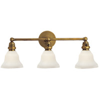 E. F. Chapman Boston 3 Light 23 inch Hand-Rubbed Antique Brass Wall Light