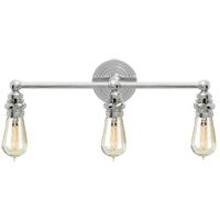 Visual Comfort E.F. Chapman Boston 3 Light Bath Wall Light in Polished Nickel SL2933PN