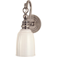 Visual Comfort E.F. Chapman Boston 1 Light Bath Wall Light in Antique Nickel SL2934AN-WG