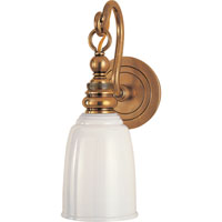 Visual Comfort E.F. Chapman Boston 1 Light Bath Wall Light in Hand-Rubbed Antique Brass SL2934HAB-WG