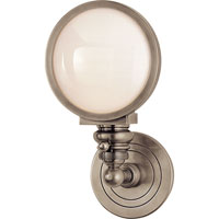 Visual Comfort E.F. Chapman Boston 1 Light Bath Wall Light in Antique Nickel SL2935AN-WG