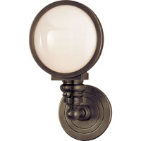 Visual Comfort E.F. Chapman Boston 1 Light Bath Wall Light in Bronze with Wax SL2935BZ-WG