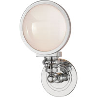Visual Comfort E.F. Chapman Boston 1 Light Bath Wall Light in Chrome SL2935CH-WG