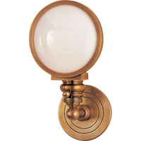 Visual Comfort E.F. Chapman Boston 1 Light Bath Wall Light in Hand-Rubbed Antique Brass SL2935HAB-WG