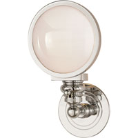 Visual Comfort E.F. Chapman Boston 1 Light Bath Wall Light in Polished Nickel SL2935PN-WG