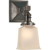 Visual Comfort E.F. Chapman Boston 1 Light Bath Wall Light in Bronze with Wax SL2941BZ-FG