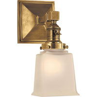 Visual Comfort E.F. Chapman Boston 1 Light Bath Wall Light in Hand-Rubbed Antique Brass SL2941HAB-FG