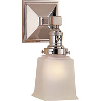 Visual Comfort E.F. Chapman Boston 1 Light Bath Wall Light in Polished Nickel SL2941PN-FG