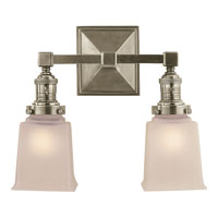Visual Comfort E.F. Chapman Boston 2 Light Bath Wall Light in Antique Nickel SL2942AN-FG