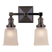 Visual Comfort E.F. Chapman Boston 2 Light Bath Wall Light in Bronze with Wax SL2942BZ-FG