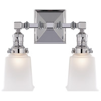 Visual Comfort SL2942CH-FG E. F. Chapman Boston 2 Light 14 inch Chrome Wall Light
