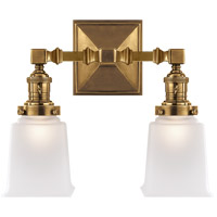 Visual Comfort SL2942HAB-FG E. F. Chapman Boston 2 Light 14 inch Hand-Rubbed Antique Brass Wall Light