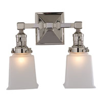 Visual Comfort E.F. Chapman Boston 2 Light Bath Wall Light in Polished Nickel SL2942PN-FG