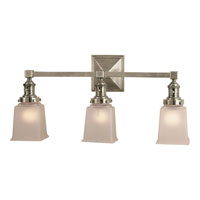 Visual Comfort E.F. Chapman Boston 3 Light Bath Wall Light in Antique Nickel SL2943AN-FG