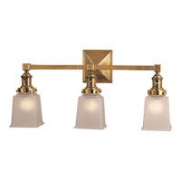 Visual Comfort E.F. Chapman Boston 3 Light Bath Wall Light in Hand-Rubbed Antique Brass SL2943HAB-FG