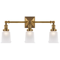 Visual Comfort SL2943HAB-FG E. F. Chapman Boston 3 Light 22 inch Hand-Rubbed Antique Brass Wall Light