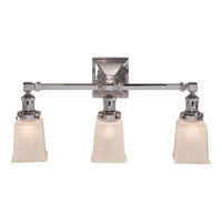 Visual Comfort E.F. Chapman Boston 3 Light Bath Wall Light in Polished Nickel SL2943PN-FG