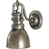 Visual Comfort Studio Yoke 1 Light Suspended Wall Sconce in Antique Nickel with Antique Nickel Shade SL2975AN-AN