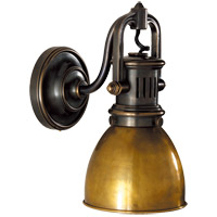 Visual Comfort SL2975BZ-HAB E. F. Chapman Yoke 1 Light 5 inch Bronze Suspended Wall Sconce Wall Light in Hand-Rubbed Antique Brass