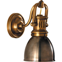 Visual Comfort SL2975HAB-AN E. F. Chapman Yoke 1 Light 5 inch Hand-Rubbed Antique Brass Suspended Wall Sconce Wall Light in Antique Nickel