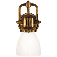 Visual Comfort SL2975HAB-WG E. F. Chapman Yoke 1 Light 5 inch Hand-Rubbed Antique Brass Suspended Wall Sconce Wall Light in White Glass photo thumbnail