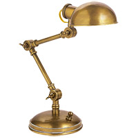 E.F. Chapman Pixie 13 inch 25 watt Hand-Rubbed Antique Brass Task Table Lamp Portable Light