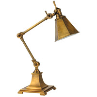 E.F. Chapman Architects 18 inch 40 watt Hand-Rubbed Antique Brass Task Table Lamp Portable Light