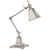 E.F. Chapman Architects 18 inch 40 watt Polished Silver Task Table Lamp Portable Light