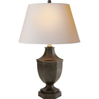 Visual Comfort E.F. Chapman Hex 1 Light Decorative Table Lamp in Aged Iron with Wax SL3100AI-NP