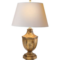 Visual Comfort SL3100GI-NP E.F. Chapman Hex 27 inch 75 watt Gilded Iron with Wax Decorative Table Lamp Portable Light in Natural Paper