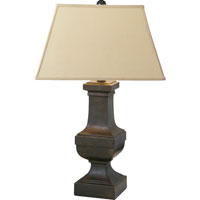 E.F. Chapman Balustrade 27 inch 150 watt Aged Iron with Wax Decorative Table Lamp Portable Light in Linen