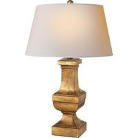 Visual Comfort E.F. Chapman Balustrade 1 Light Decorative Table Lamp in Gilded Iron with Wax SL3338GI-NP