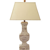 Visual Comfort SL3338OW-L E. F. Chapman Balustrade 28 inch 150 watt Old White Decorative Table Lamp Portable Light in Linen