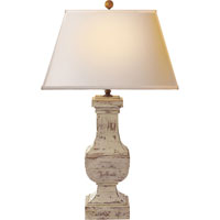 Visual Comfort SL3338OW-NP E. F. Chapman Balustrade 28 inch 100 watt Old White Decorative Table Lamp Portable Light in Natural Paper
