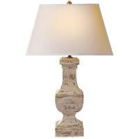 Visual Comfort SL3338OW-NP E F Chapman Balustrade 28 inch 150 watt Old White Decorative Table Lamp Portable Light in Natural Paper