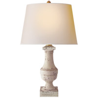 Visual Comfort SL3339OW-NP E F Chapman Balustrade 29 inch 100 watt Old White Decorative Table Lamp Portable Light in Natural Paper