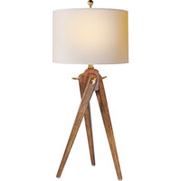 Visual Comfort E.F. Chapman Tripod 1 Light Decorative Table Lamp in French Wax on Wood SL3700FW-NP