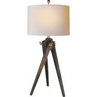 E.F. Chapman Tripod 27 inch 100 watt Tudor Brown Stain Decorative Table Lamp Portable Light in (None)