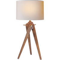 Visual Comfort E.F. Chapman Tripod 1 Light Decorative Table Lamp in French Wax on Wood SL3701FW-NP