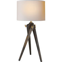 E.F. Chapman Tripod 17 inch 40 watt Tudor Brown Stain Decorative Table Lamp Portable Light in (None)