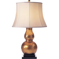 Visual Comfort E.F. Chapman Gourd 1 Light Decorative Table Lamp in Antique Gold Leaf SL3801AGL-S