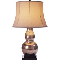 Visual Comfort E.F. Chapman Gourd 1 Light Decorative Table Lamp in Antique Silver Leaf SL3801ASL-L