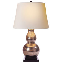 Visual Comfort E.F. Chapman Gourd 1 Light Decorative Table Lamp in Antique Silver Leaf SL3801ASL-NP
