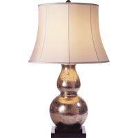 Visual Comfort E.F. Chapman Gourd 1 Light Decorative Table Lamp in Antique Silver Leaf SL3801ASL-S