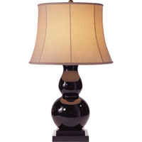 Visual Comfort Studio Gourd Sandy Chapman Gourd Table Lamp in Eggplant Glass with Linen Shade SL3801EG-L