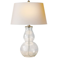 Visual Comfort SL3811CG-NP E. F. Chapman Gourd 30 inch 150 watt Clear Glass Decorative Table Lamp Portable Light