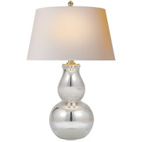 E.F. Chapman Gourd 30 inch 150 watt Mercury Glass Table Lamp Portable Light