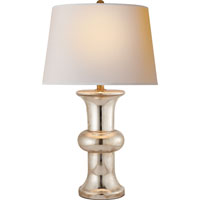 Visual Comfort E.F. Chapman Bull Nose 1 Light Decorative Table Lamp in Mercury Glass with Wax SL3845MG-NP