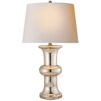 E. F. Chapman Bull Nose 32 inch 75 watt Mercury Glass Decorative Table Lamp Portable Light
